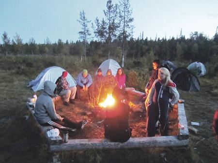 Kuva Lapin leiriltä